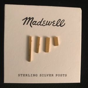 Madewell Gold Earring - 4 diff lengths. New